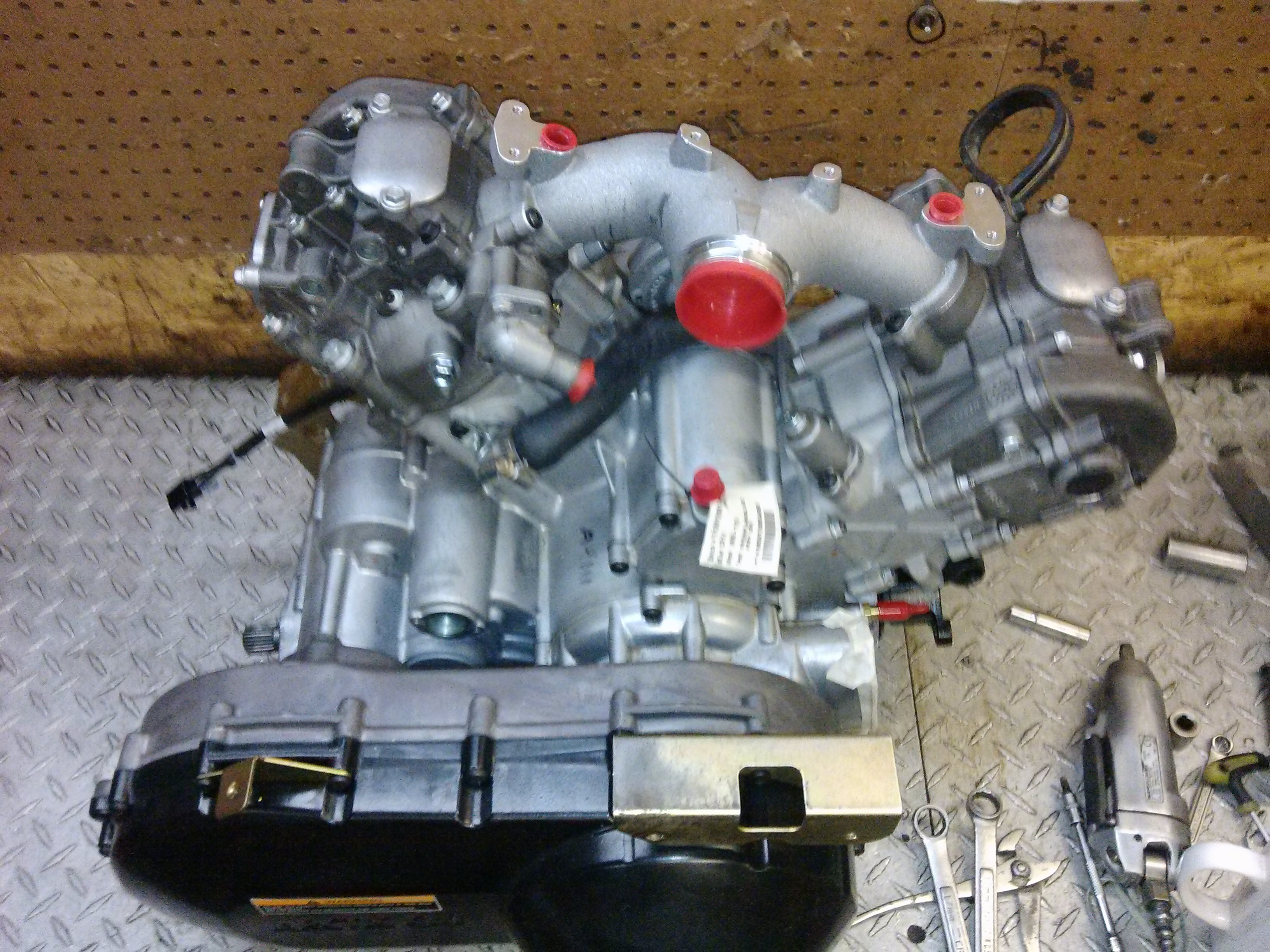 New updated 2013 engine fitting to go in