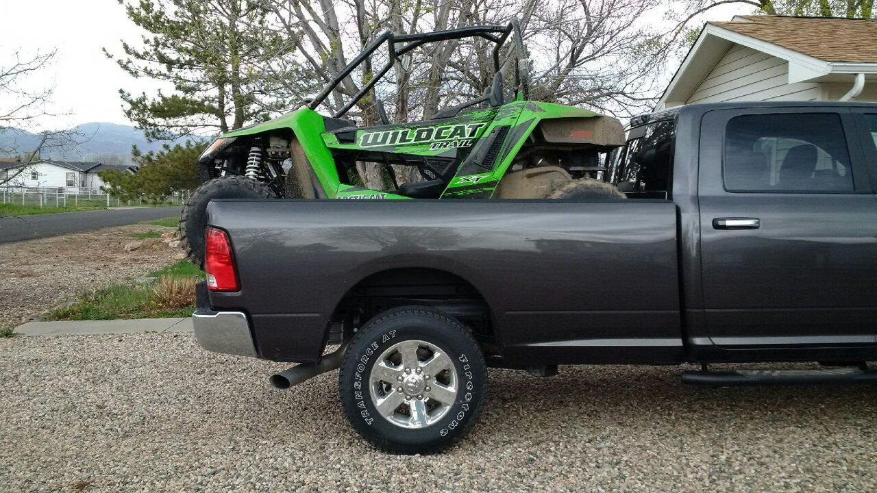 Ideas As To Load A Trail Into P U W Out Tailgate Down