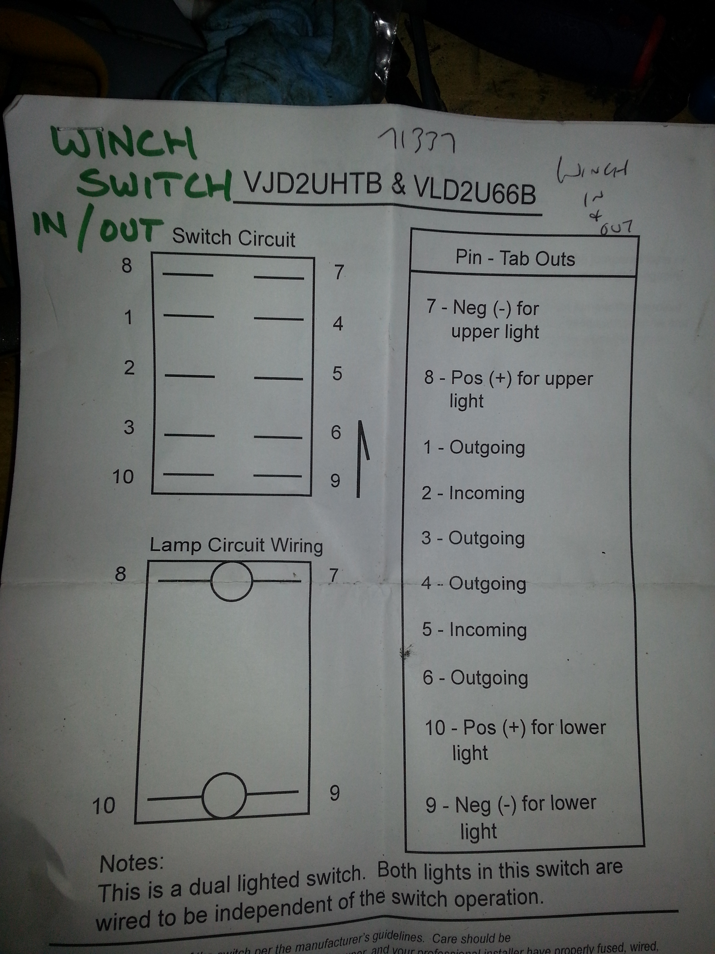 Winch Rocker Switch Wiring Diagram Good 1st On To Power Momentary Rh Wildcatforums Net 4 Pin 7