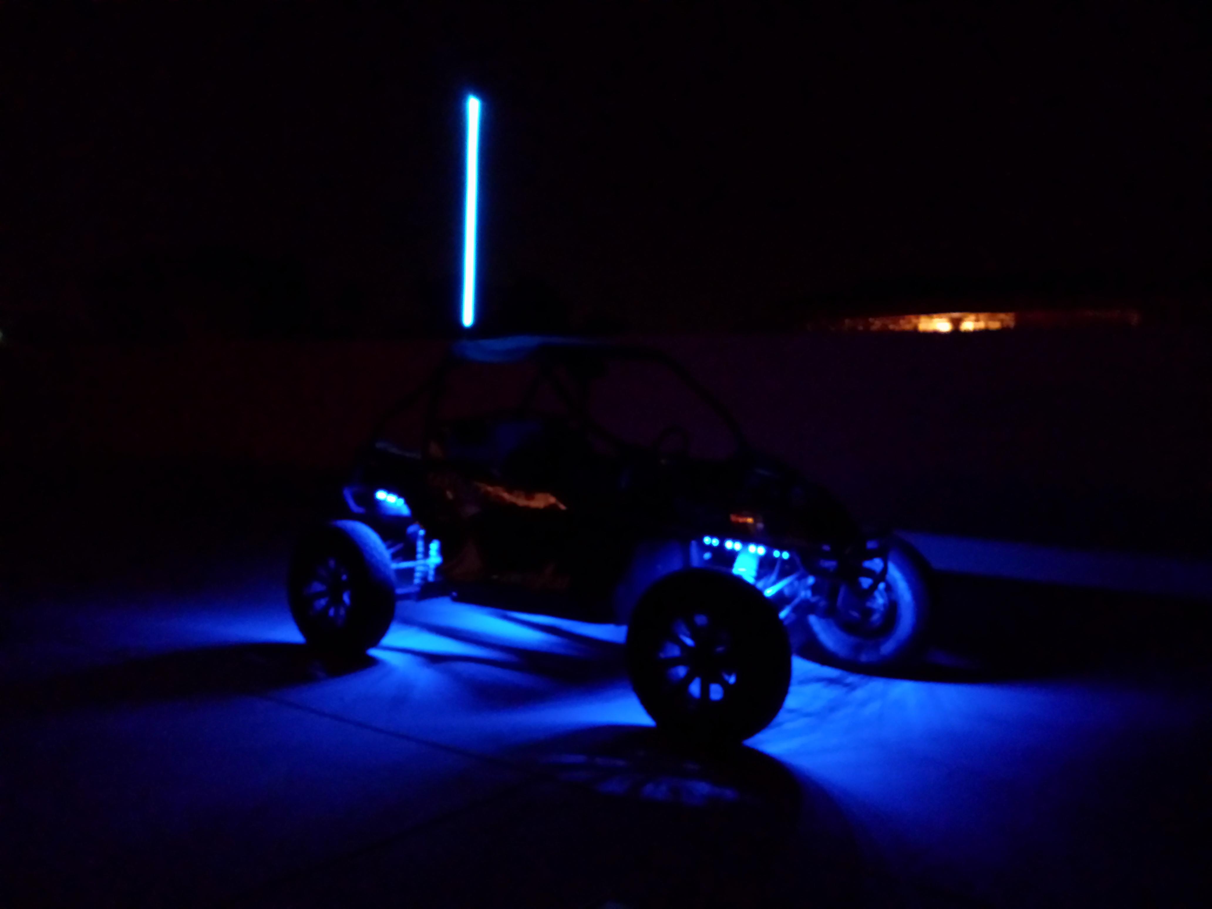 Utv inc quick light fiber optic led whip - 4'