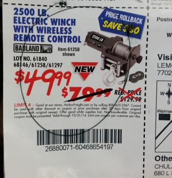 harbor freight hand winch. harbor freight hand winch