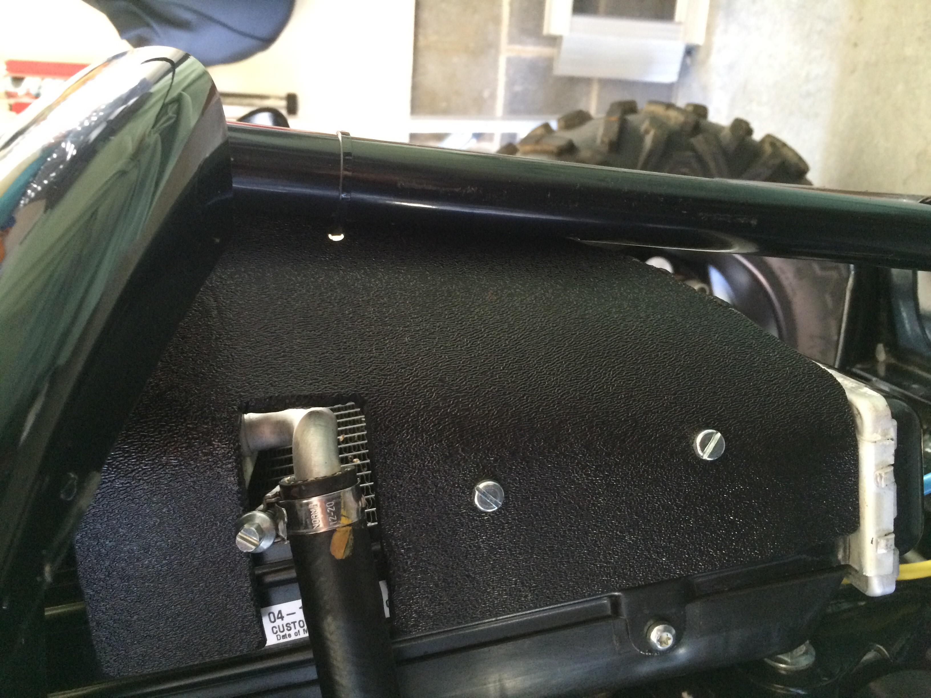 Zip Tie Gun >> Side radiator shields