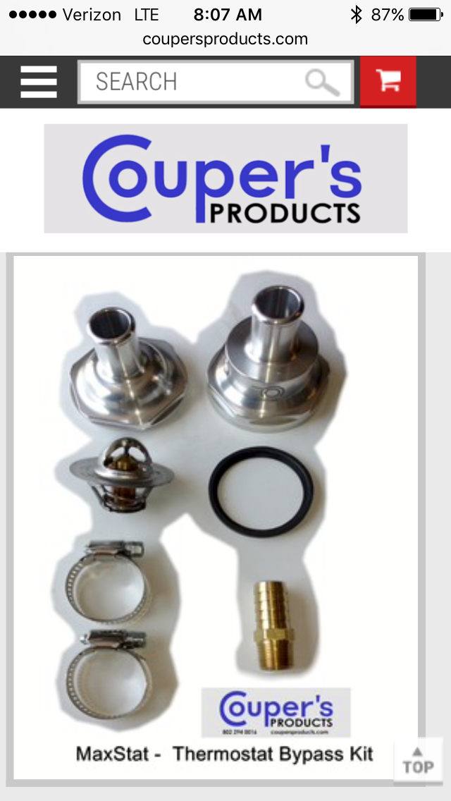 Inline Water Heater >> Ice Crusher MaxStat - Inline Coolant Bypass Thermostat for UTV Heaters