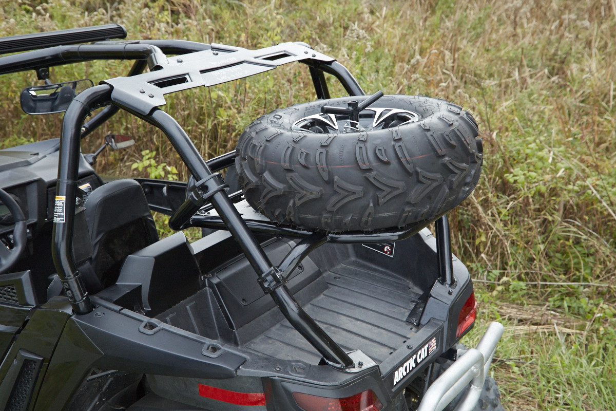 Trunk Storage Bag With Spare Tire Rack
